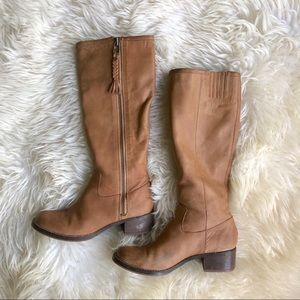 Lucky Brand Leather Heeled Riding Boots 8/38